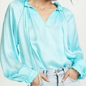 Zadig & Voltaire Theresa Embellished Blouse Top L